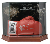 Mike Tyson Signed Everlast Boxing Glove with High-Quality Display Case (JSA COA)