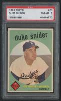 1959 Topps #20 Duke Snider (PSA 8) at PristineAuction.com