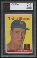 1958 Topps #1 Ted Williams (BVG 7.5) at PristineAuction.com