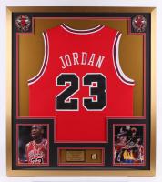 Michael Jordan 32x36 Custom Framed Jersey with Ring