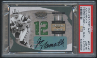 2005 Leaf Certified Materials Fabric of the Game Jersey Number #42 Joe Namath Autograph #11/12 (PSA 10) at PristineAuction.com