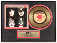"Kiss ""I Was Made For Lovin' You"" LE 12x16.25 Custom Framed Gold Plated Vinyl Record Album"