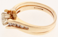14k Yellow Gold & Diamond Two Piece Wedding Set Ring at PristineAuction.com