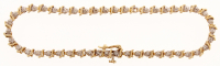 14k Yellow Gold & Diamond Line Bracelet at PristineAuction.com
