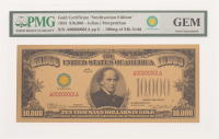 "1934 $10,000 Ten Thousand Dollar ""Smithsonian Edition"" Gold Certificate (PMG GEM Uncirculated)"