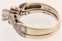 White & Gold Diamond Two Piece Wedding Set Ring at PristineAuction.com