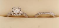 14kt White Gold & Diamond Engagement Ring