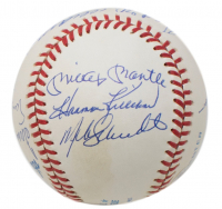 500 Home Run Club OAL Baseball Signed by (11) with Mickey Mantle, Ted Williams, Hank Aaron, Willie Mays, Ernie Banks, Harmon Killebrew, Willie McCovey (Beckett LOA)