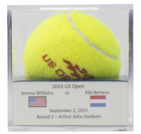 Serena Williams Match-Used Tennis Ball in Display Case (USTA LOA)