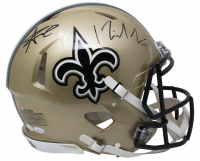 Alvin Kamara & Michael Thomas Signed New Orleans Saints Full-Size Authentic On-Field Speed Helmet (JSA COA) at PristineAuction.com