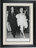 "The Hulton Archive - Marilyn Monroe & Joe DiMaggio ""Mr. & Mrs. Joseph DiMaggio"" LE 24x29 Custom Framed Fine Art Giclee (PCV COA)"