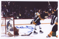 "Bobby Orr Signed Bruins ""The Flying Goal"" 11x7 Photo (Orr COA) at PristineAuction.com"