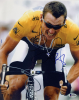 Lance Armstrong Signed 10x12.5 Tour de France Photo (Beckett LOA)