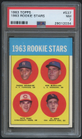 1963 Topps #537 Rookie Stars / Pete Rose RC (PSA 7)