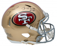 Joe Montana & Jerry Rice Signed San Francisco 49ers Full-Size Authentic On-Field Speed Helmet (JSA COA) at PristineAuction.com