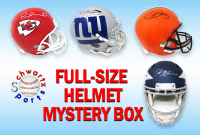 Schwartz Sports Football Superstar Signed Full-Size Football Hemet Mystery Box – Series 8 (Limited to 75)