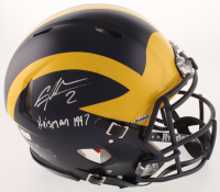 """Charles Woodson Signed Michigan Wolverines Full-Size Authentic On-Field Speed Helmet Inscribed """"Heisman 1997"""" (Radtke COA) at PristineAuction.com"""