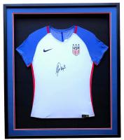 Alex Morgan Signed Team USA Soccer 32x36 Custom Framed Nike Jersey (JSA COA)