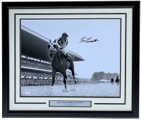 Ron Turcotte Signed 22x27 Custom Framed Photo Display (JSA COA)