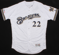 Christian Yelich Signed Milwaukee Brewers Authentic Majestic On-Field Jersey Inscribed with Multiple 2018 Stat Inscriptions (MLB Hologram & Steiner COA) at PristineAuction.com