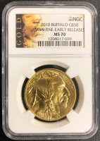 2010 $50 Early Release Buffalo Gold Coin (NGC MS 70)