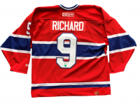 Maurice Richard Signed Montreal Canadiens CCM Captain Jersey (Beckett COA)