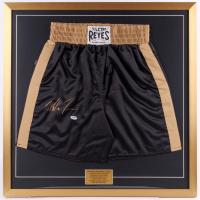Mike Tyson Signed 30x30 Custom Framed Boxing Trunks Display (PSA COA)