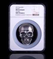 2017 Palau Silver 1/2 Kilo (16.06 oz.) $25 Big Skull with Antique Finish - 121/555 (NGC MS67)