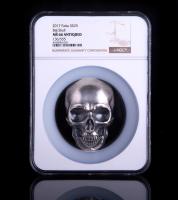 2017 Palau Silver 1/2 Kilo (16.06 oz.) $25 Big Skull with Antique Finish - 136/555 (NGC MS66)