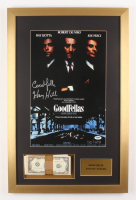"""Henry Hill Signed LE 17x26 Custom Framed Photo Display Inscribed """"Goodfella"""" with Replica Prop Money (PSA COA)"""