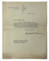 Herbert Hoover Signed Typed Letter on Personal Letterhead (Beckett LOA)