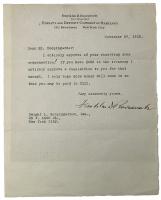 Franklin D. Roosevelt Signed Typed Letter (Beckett LOA)