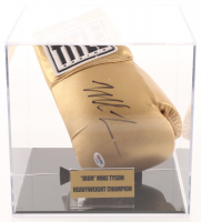 Mike Tyson Signed Title Boxing Glove with Display Case (PSA COA)