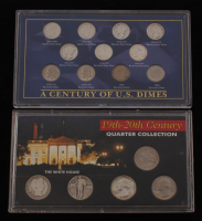 "Lot of (2) United States Coin Collections with ""A Century of U.S. Dimes"" & ""19th-20th Century Quarters"""