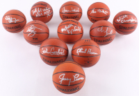 Lot of (11) Los Angeles Lakers Signed NBA Mini Basketballs with Wilt Chamberlain, George Mikan, Jerry West, Chick Hearn (JSA COA & JSA LOA)