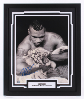 "Mike Tyson Signed ""Baddest Man On The Planet"" 22x26 Custom Framed Photo Display (Fiterman Sports Hologram)"