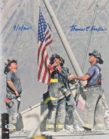 "Thomas E. Franklin Signed ""Raising the Flag at Ground Zero"" 11x14 Photo Inscribed ""9/11/2001"" (Beckett COA) at PristineAuction.com"