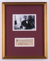 Thomas Edison Signed 12.5x15.5 Custom Framed Quote Cut Display (JSA LOA)