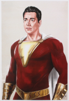 Tony Santiago - Shazam! - DC Comics 13x19 Signed Lithograph (PA COA) at PristineAuction.com