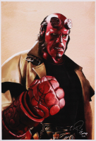 Tony Santiago - Hellboy - Dark Horse Comics 13x19 Signed Lithograph (PA COA) at PristineAuction.com