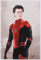 Tony Santiago - Spider-Man - Tom Holland - Marvel Comics 13x19 Signed Lithograph (PA COA) at PristineAuction.com
