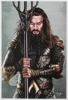 Tony Santiago - Aquaman - DC Comics 13x19 Signed Lithograph (PA COA) at PristineAuction.com
