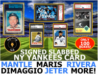 Mystery Ink New York Yankees Signed and Slabbed Card Mystery Pack/Box! 1 Yankees Signed Card In Every Box! ONLY 100 BOXES MADE!