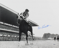 Ron Turcotte Signed 16x20 Photo with Secretariat (Beckett COA) at PristineAuction.com