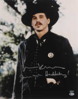 "Val Kilmer Signed ""Tombstone"" 16x20 Photo Inscribed ""I'm Your Huckleberry"" (Beckett COA) at PristineAuction.com"