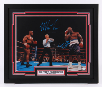 "Mike Tyson & Evander Holyfield Signed ""The Bite Fight"" 22x26 Custom Framed Photo Display (JSA COA)"