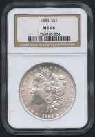1885 $1 Morgan Silver Dollar (NGC MS 66) at PristineAuction.com