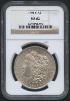1891-O $1 Morgan Silver Dollar (NGC MS 62) at PristineAuction.com