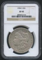 1904-S $1 Morgan Silver Dollar (NGC XF 45)
