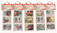 Lot of (5) 1978 Topps Baseball Christmas Rack Pack with (12) Cards at PristineAuction.com